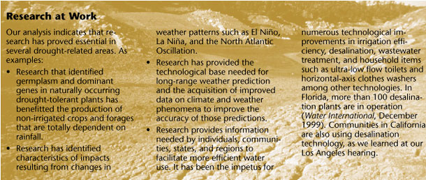National Drought Policy Commission - Report - FINDINGS